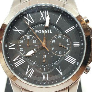 Fossil Men's Stainless Steel Black Dial Watch RK5